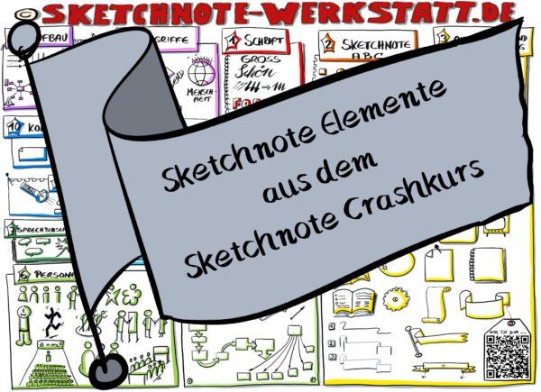 Sketchnote Elemente aus dem Sketchnote Crashkurs